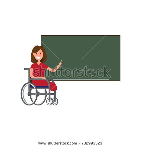 Disable smiling teacher next to blackboard. Still able to work