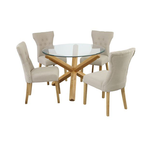 oporto dining table with 4 chairs - 4 Chair Dining Table