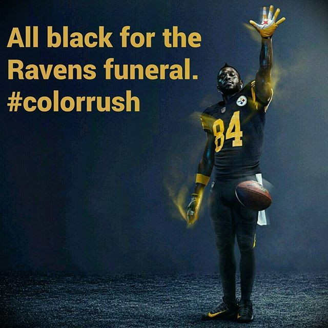 "So christmas day 2016 came and the Steelers finally wore they Color Rush Uniforms. Perfect game to cash in on style points and a great ending! Thanks AB for ""The Reach"" Business is booming!  #TheReach"
