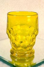 Vintage Canary Glass Tumbler - Yellow Drinking Glass