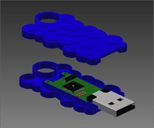 Design a USB Pen using Autodesk Inventor - Cut it out of Lego?...$Million idea here peeps