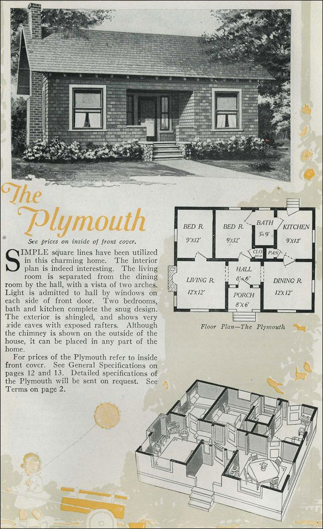The Plymouth Kit House Floor Plan made