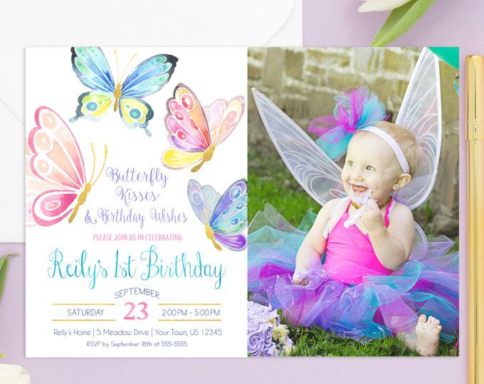 Unique Butterfly Invitations Ideas On Pinterest Scroll - First birthday invitations girl india