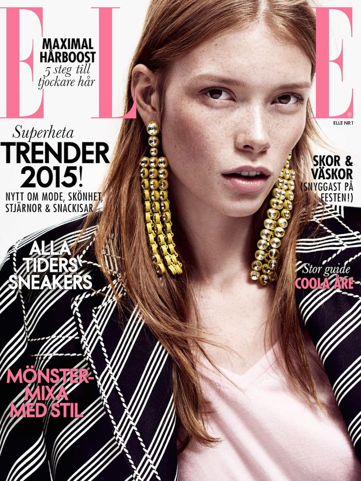 #JuliaHafstrom by #HonerAkrawi for the cover of #ElleSweden January 2015
