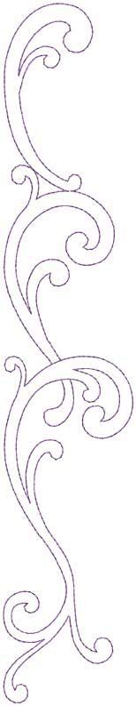 Design #12, Combo, Straight, bean (5-pass) - machine embroidery design: