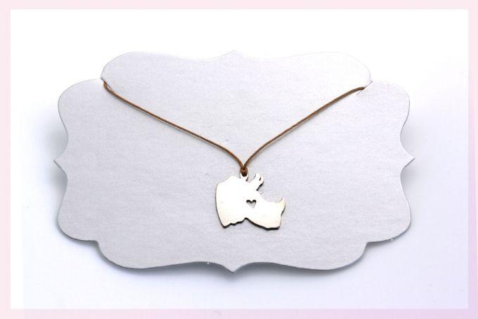 Rhino Necklace by Janine Binneman Jewellery Design on hellopretty.co.za
