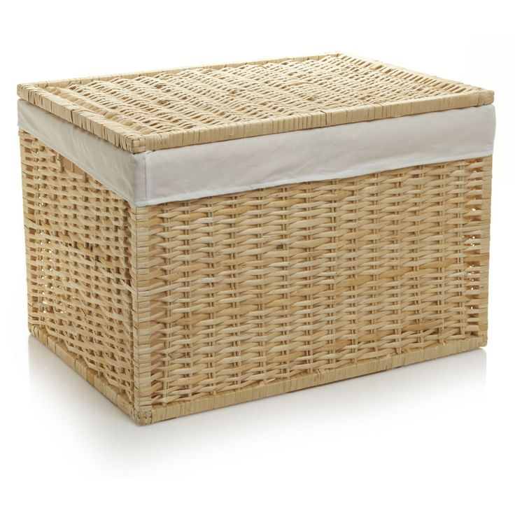 Wilko Storage Trunk Willow Natural