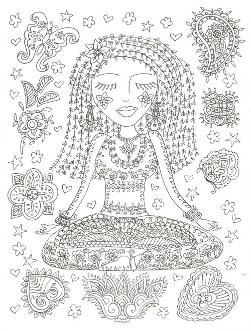 Download and color this amazing picture to find your peace and happiness! Also, you can print these pages out to make easy coloring sheets or staple several together for fantastic coloring book.