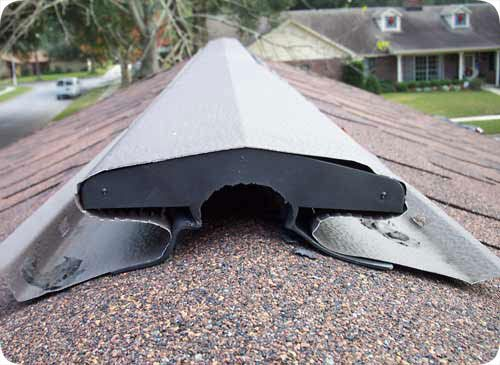Roof Venting Problems : Rats and squirrels have little problems chewing their way