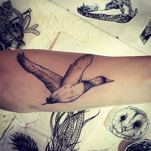 #flyng_duck #small #tattoo #black #ink #btattooing