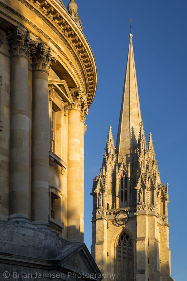 Oxford spires at sunset, Oxford, England, UK. © Brian Jannsen Photography: