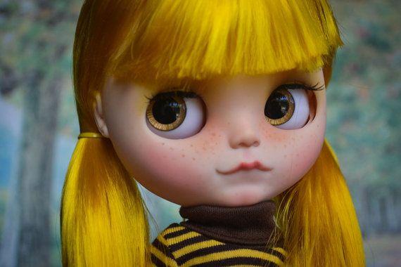 OOAK Custom Factory Blythe Doll  With Long Ombre by MissFreyaJ