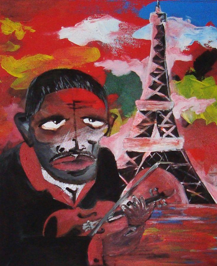Gitan a Paris painting contamporary art