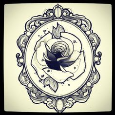oval victorian frames tattoo - Google Search