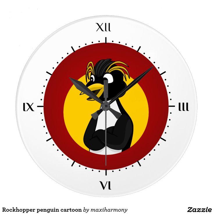 Rockhopper penguin cartoon wall clocks
