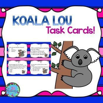 This task card activity is a great Literacy Center to use after the children have read Koala Lou by Mem Fox.The children can record their responses on the printable or in a reading response notebook.Included:16 Comprehension Task Cards1 Answer Sheet1 Teac