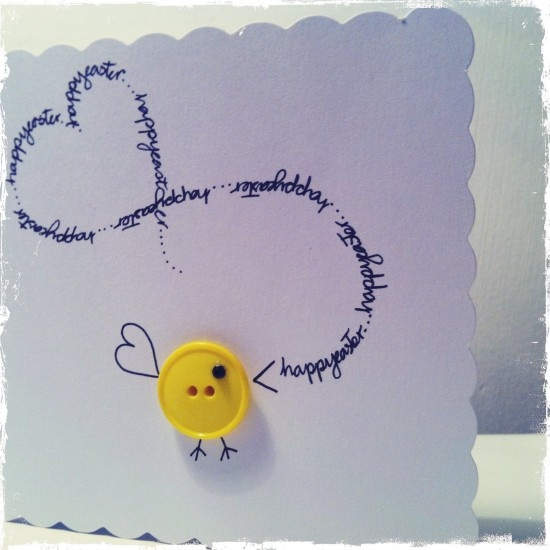 Cute little chick easter card