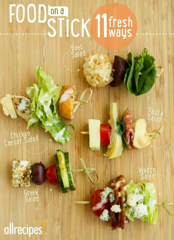 Salads on a stick
