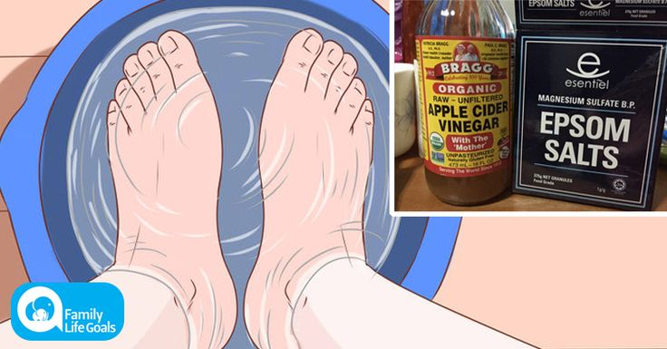 The Epsom Salt and Apple Cider Vinegar foot bath recipe that REVERSES foot pain in 20 minutes