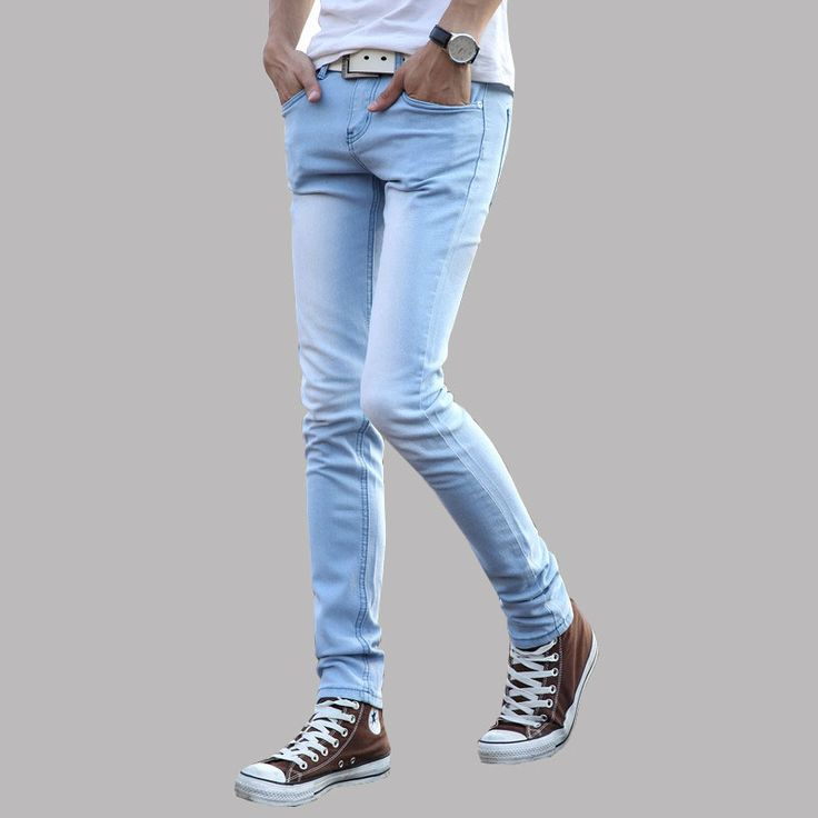 >> Click to Buy << Blue jeans skinny jeans men's clothing trend slim small trousers Slim young men feet of popular youth jeans Asian size 27-36 #Affiliate
