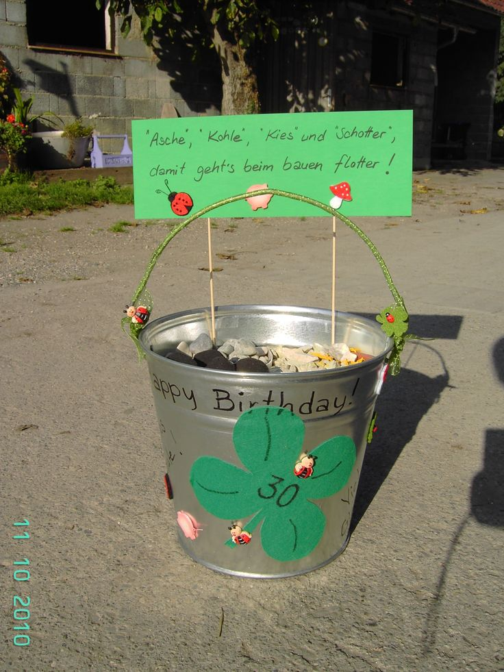 Geldgeschenk Hausbau (2010) zum 30er  geschenke  Pinterest