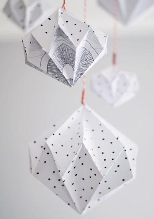 Suspension géométriques en origami Plus