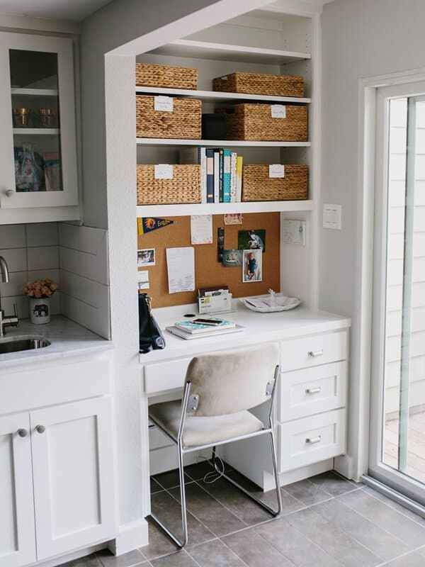 Super Cute Small Office Ideas Maximize Your Space In A Chic Way Small Home Offices Kitchen Office Nook Small Home Office