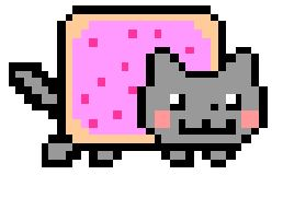 nyan.cat is the most strenuous endurance test on the Internet. When you can't possibly take another NYAN, click the button to tweet your NYAN Time. I've seen grown men cry after going one NYAN too long. Categorically NOT for the weak of heart.