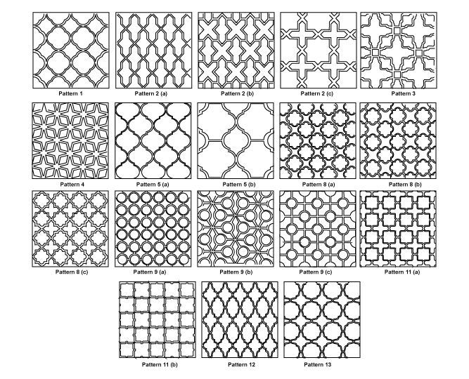 select different shades of white / grey     arabesque_patterns
