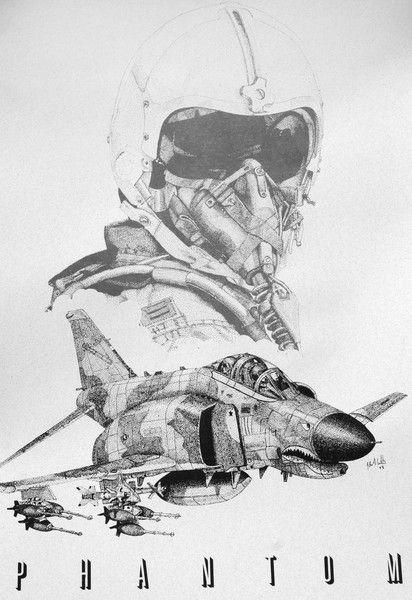 F4 Phantom Pilot by John Willis on ARTwanted.   ~ my favorite plane of all time!!! ~ Libby