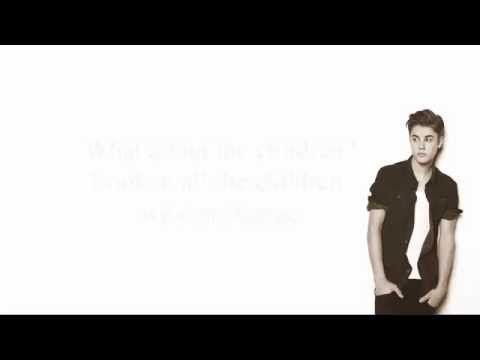 Justin bieber children (lyrics) - YouTube