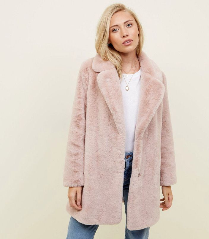 info for better pre order Petite Pale Pink Faux Fur Coat in 2020 | Pink faux fur coat, Pink ...