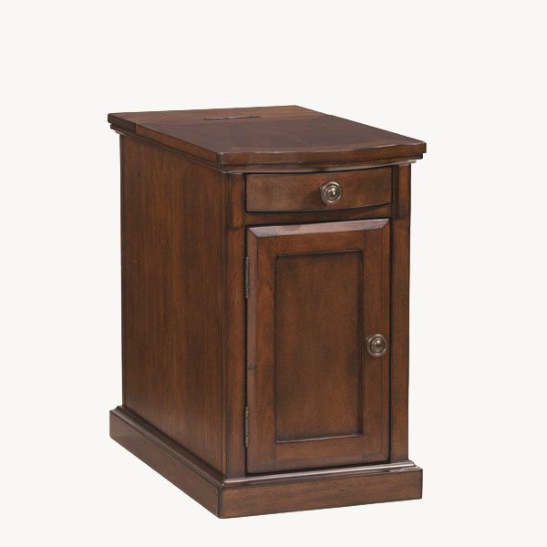 Chair Side End Table W Power Outlets