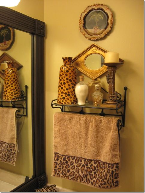 17 best images about leopard golden bathroom on pinterest for Decorating towels in bathroom