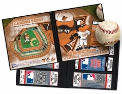 Personalized Baltimore Orioles Mascot Ticket Album with the Oriole Bird - Our Personalized MLB Mascot Ticket Album put your child's name on the cover. A Ticket Album is a photo album for your children's tickets and allows you to create a single display that will keep the memories of the games they've attended as fresh as the day they were there. Also makes an ideal item to present tickets to them as a gift. www.thatsmyticket.com