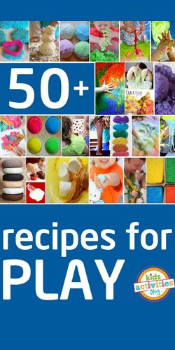 50  Recipes for Play  #Crafts #Free #DIY #PlayTime #Kids