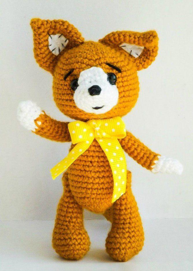 Amigurumi zorrito patrón de crochet libre