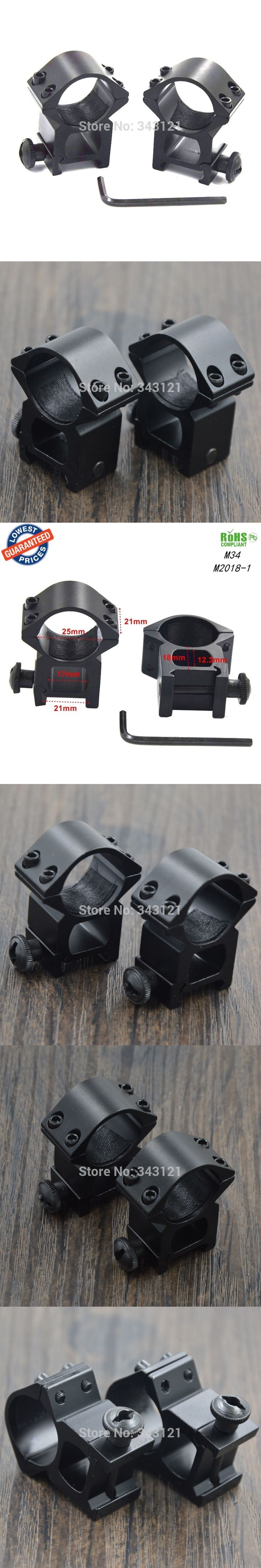 1Pair M34 25mm scope ring hunting mounts Picatinny Rail with 21mm scope mounts accessories