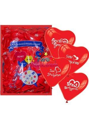 Seni Seviyorum Balonu 100 Adet fiyatı