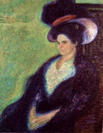 Woman with Feathered Hat, 1907  Richard Gerstl