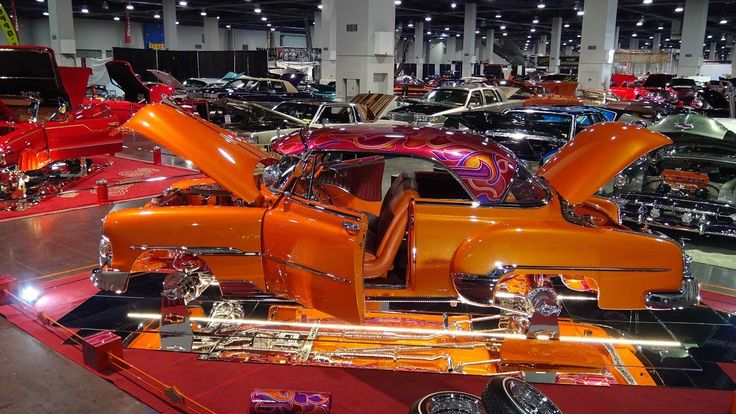 """Las Vegas Super Show 1951 Chevy Lowrider called the """"Sun"""