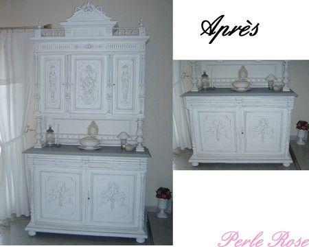 buffet henri ii en cours de transformation perle rose henri peindre et meubles. Black Bedroom Furniture Sets. Home Design Ideas