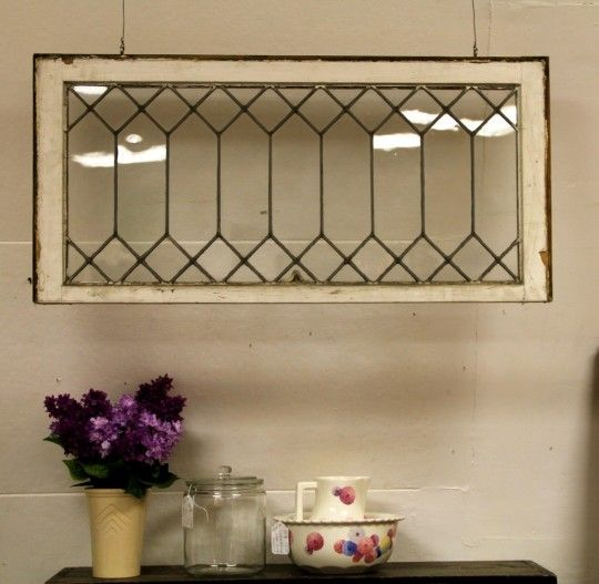 Antique Leaded Glass Window (SOLD)