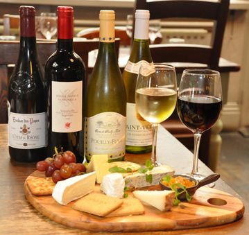 Cheese and wine the great pleasures in life. Give your taste buds a treat.