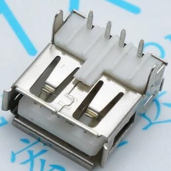 [Visit to Buy] USB Type-A 90 degrees Female Connector 4pin PCB Socket USB-A 10pcs/lot #Advertisement