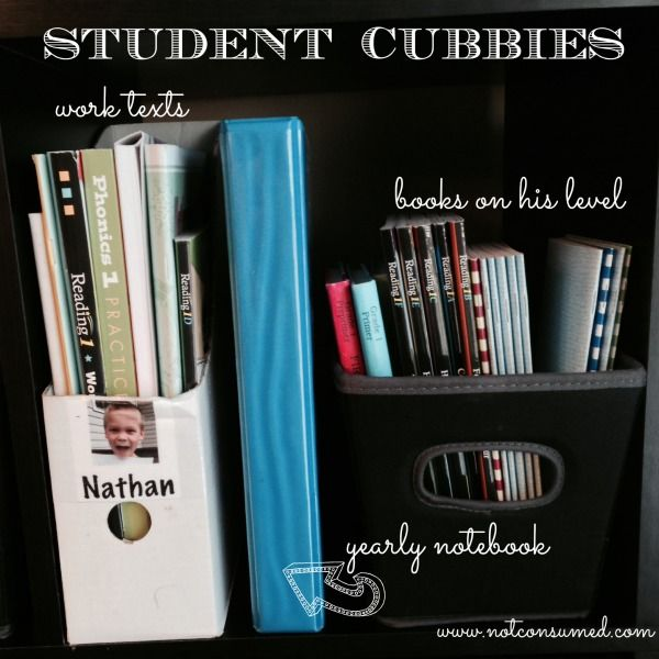 I've been using student cubbies in my homeschool for years. It's a great way to organize all of your school needs. Come share tips with us!