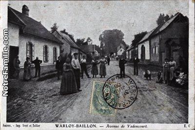 VadenCourt, France | ... Postales Photos Avenue de Vadencourt 80300 WARLOY BAILLON somme (80