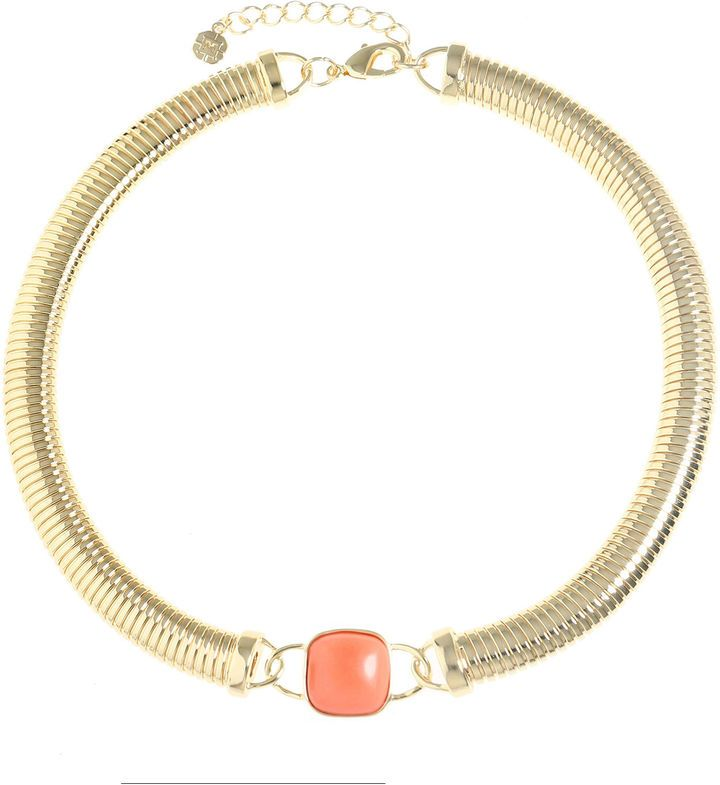 MONET JEWELRY Monet Jewelry Womens Orange Collar Necklace