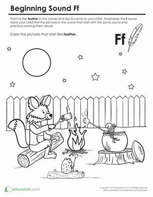Beginning Sounds Coloring Sounds Like Fox Foxes