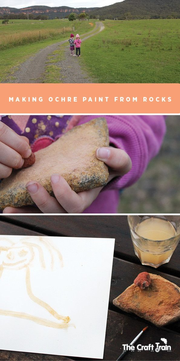 Making ochre paint from rocks | The Craft Train